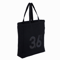 Recyclable Dust Low Price Custom Printed 10 OZ Black Cotton Canvas Bag