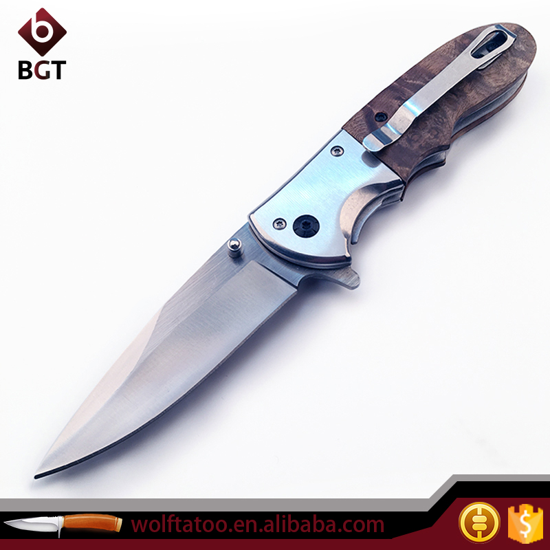 Folding Hunting Knife Importers With Wood Handle Multifunction Pocket Knives