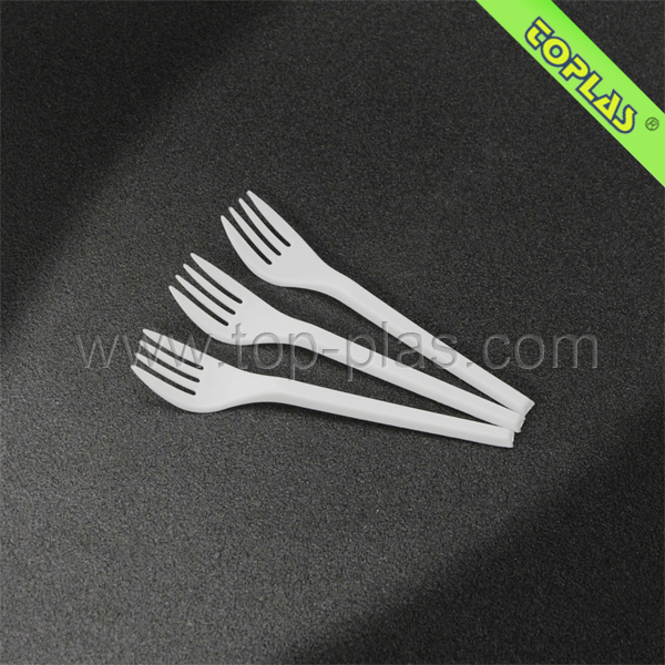 130mm Disposable Plastic Fruit Fork Food Grade