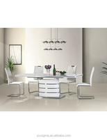 white high glossy dining sets
