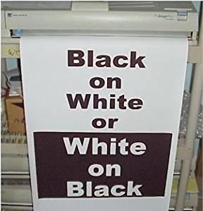 Variquest/Fujifilm / Varitronics Poster Paper (DTP) 36″ x 100′ rolls - Black on White