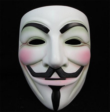 Anoniem Guy Fawkes Fancy Dress Volwassen Kostuum Accessoire macka mascara halloween De V voor <span class=keywords><strong>Vendetta</strong></span> Party Cosplay masque <span class=keywords><strong>Masker</strong></span>