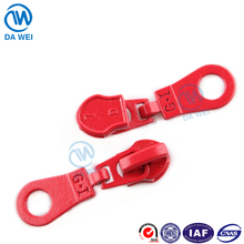 DW brand yiwu factory wholesale 7# printing customized logo autolock fabric puller for nylon designs in zipper sliders