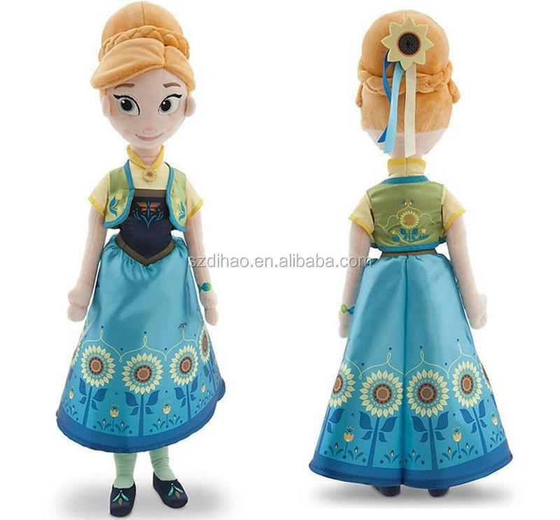 Dihao 2015 terbaru beku demam boneka putri anna dan elsa boneka untuk anak  perempuan mainan anak c42a8b1cd1