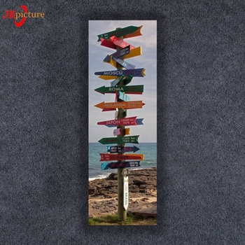 Custom seaside solid wood sign plaque painting craft for home decoration