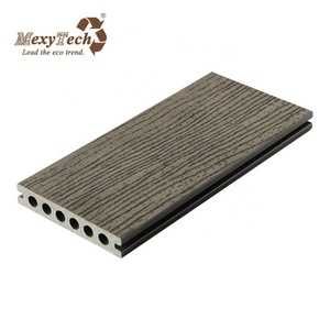 grey color exterior composite plastic wood flooring and decking accessories