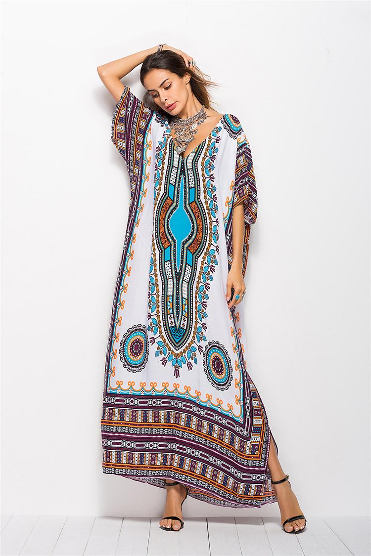Drop Ship New Short Sleeve Loose Dashiki Cheap African Clothing Women Dress  - Buy Cheap African Clothing,African Dress,Woman Dress Product on