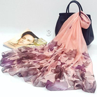 Custom made chiffon fashion flower printed swim beach sarong women