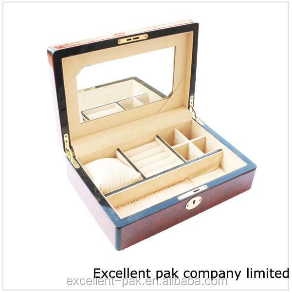 ventas calientes de moda de lujo caja de joyera de madera para la pintura de