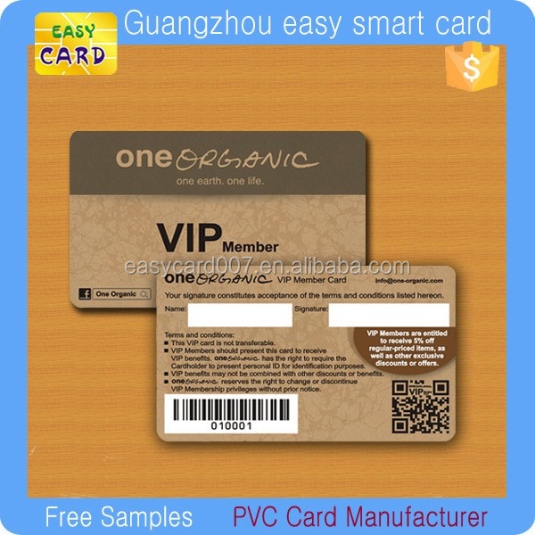 Direct Factory Make Vip Membership Cards With Barcode - Buy Make ...