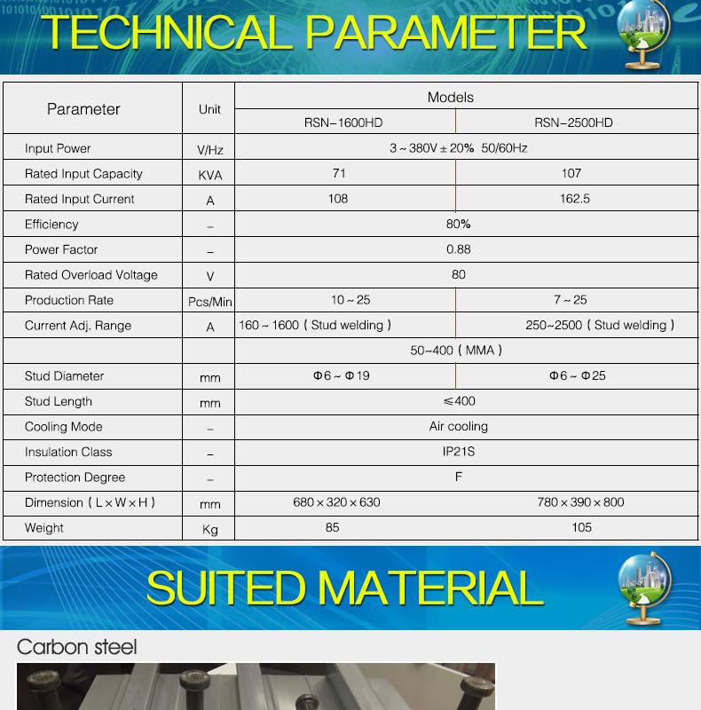 2019 Latest popular Stud welding machine huayuan