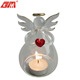 Cheap church customized glass angel candle holder