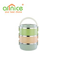 Wholesale item round shape 1-4 layer lunch box plastic food container