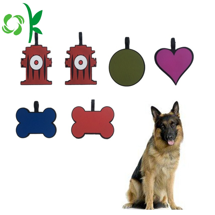 Custom Cartoon Shaped Dog tag Silicone Custom Tag for Pet