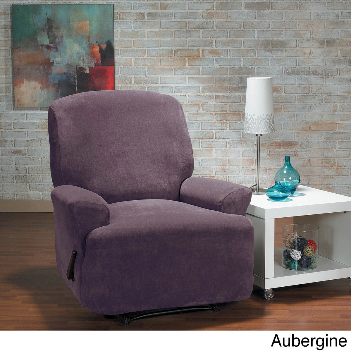 Get Quotations Quickcover Hanover Stretch Recliner Slipcover Purple