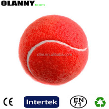 "silk screen printing pet tennis ball poly bag factory price red 2.5"" tennis ball"