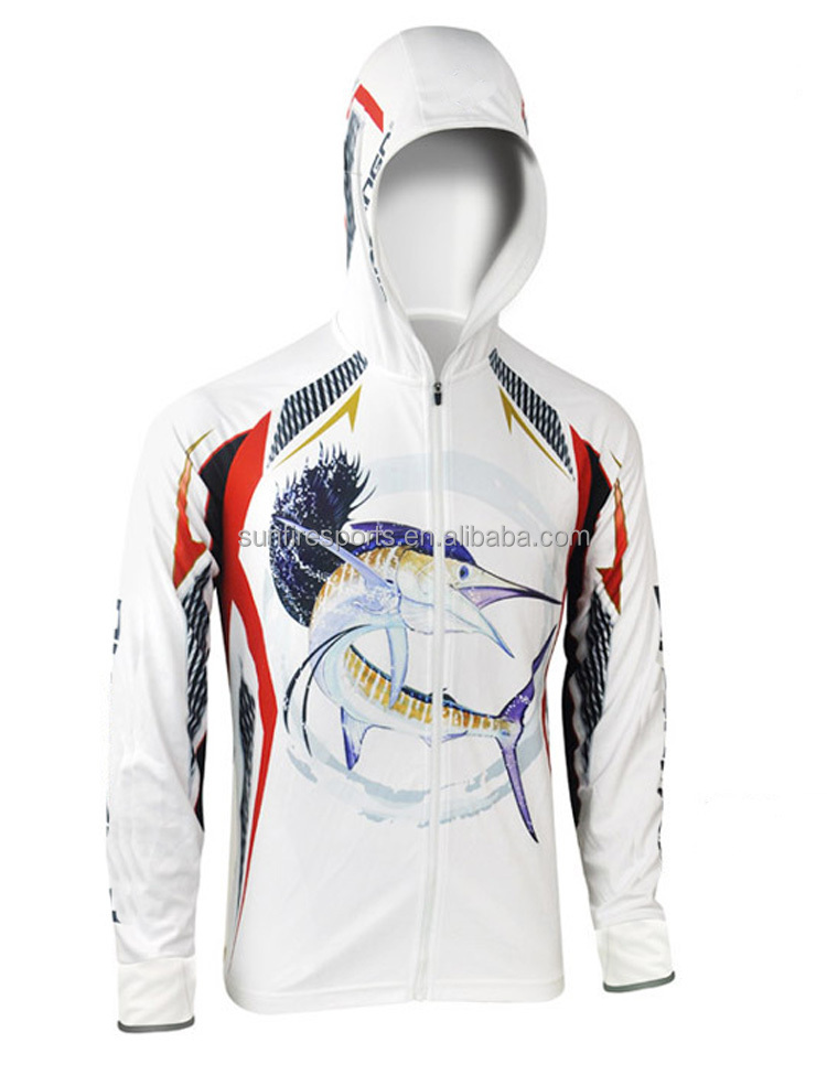 Custom UV protection sublimation fishing shirt Anti UV UPF 30/40/50