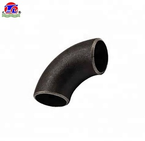 A234 WPB 90 degree long radius sch80 seamless welding steel pipe bend elbows tube