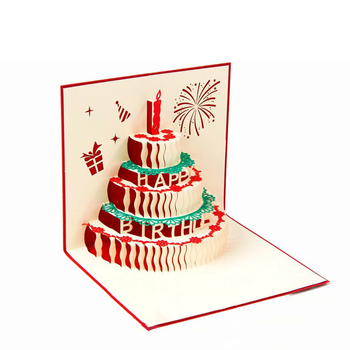Wholesale Cheap Handmade Blank 3d Popup Custom Happy Birthday Cards