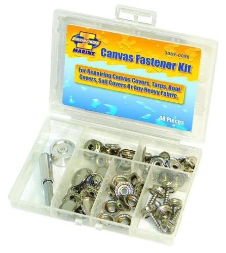 Invincible Marine Canvas Fastener Kit, 48-Pieces