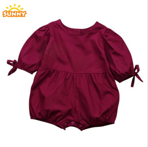 Factory Direct Sales 2018 New Arrival 100% Cotton Baby Romper