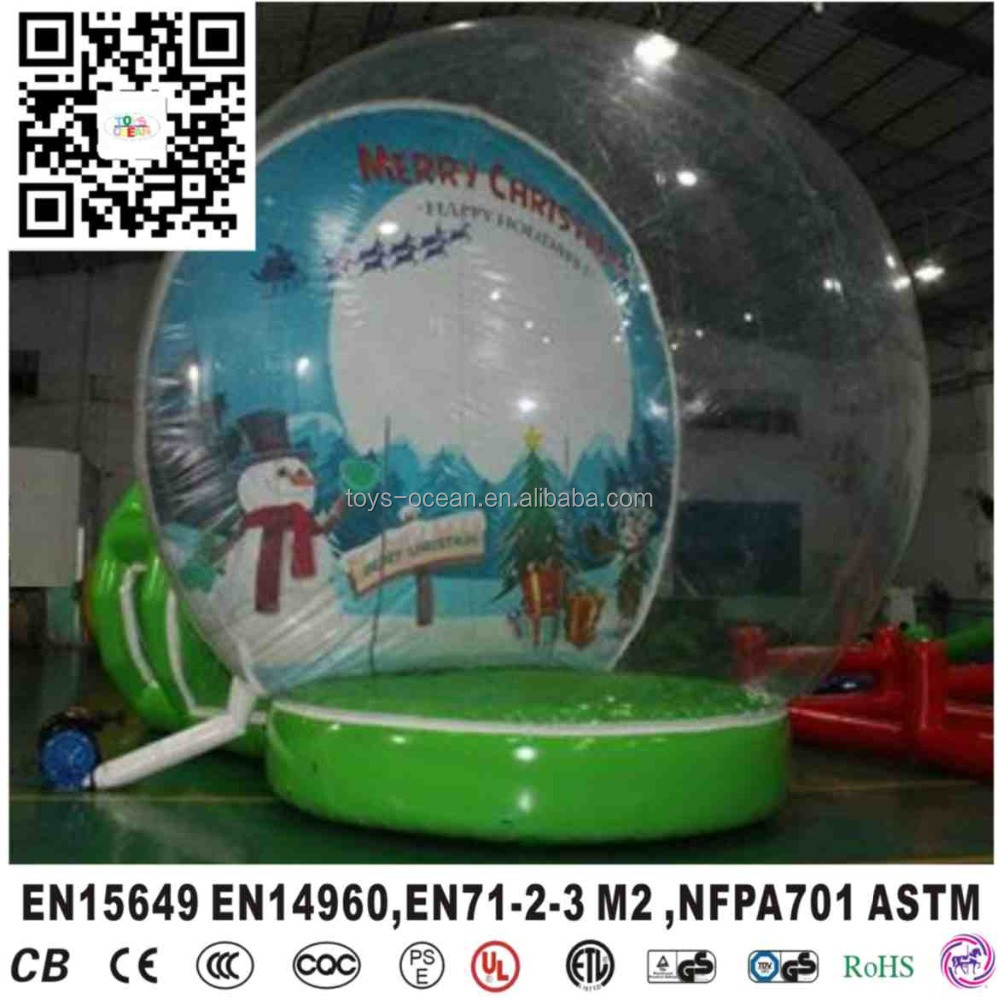 Christmas Inflatable Snow Globe Ball For Outdoor Display - Buy ...