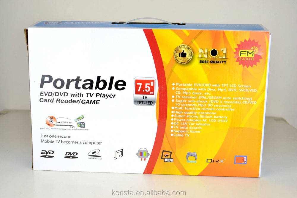 "Wholesale ODM/OEM portable dvd player with tv tuner and radio with USB TV Best Price 7"" 9'' 10"" Screen"
