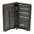 zip around travel mens wallet planner for passports tickets & cards