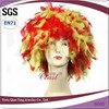 fashional carnival feather sports party fan wigs