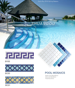 wholesale price 100% porcelain swimming pool ceramic mosaic tiles for swimming pools,spas,23x23mm(1x1 inch),48x48mm(2x2 inch)