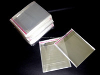 transparent bag with flap of cd dvd packaging poly bag/opp plastic dvd/cd case packing