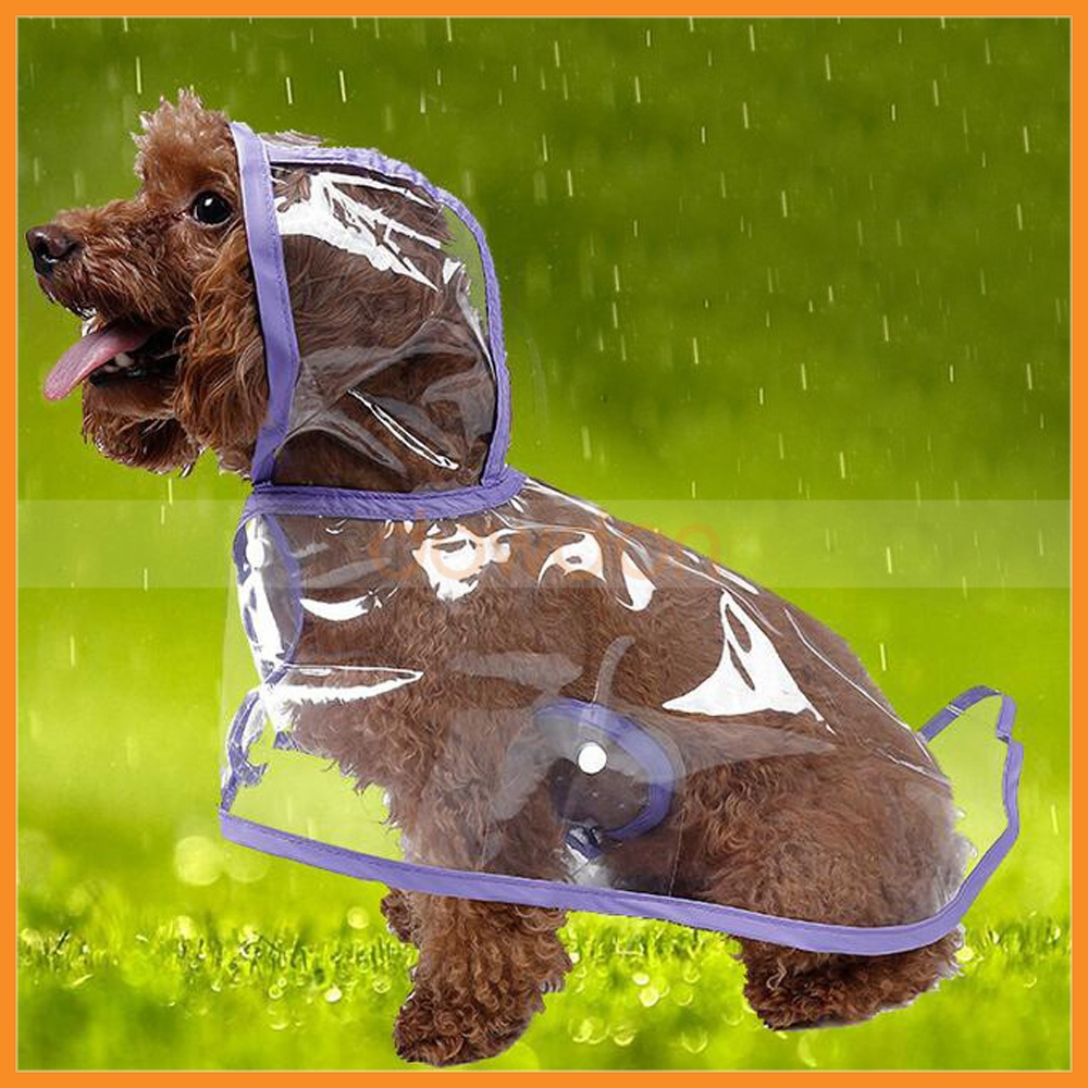 Clear Pet Dog Cat Raincoat Clothes Puppy Waterproof Rain Jacket