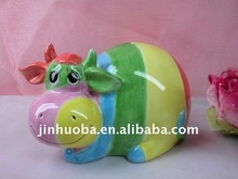 2012 The Newest Ceramic Colorful Cow Money Bank