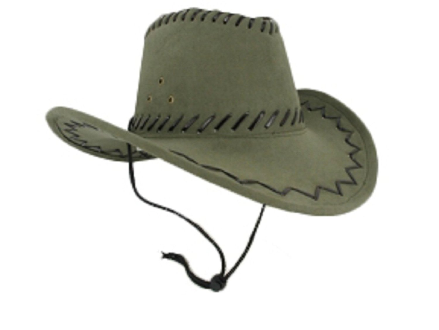 Get Quotations · Faux Sueded Leatherette Cowboy Hat with Stitching bf5e1f7829d8