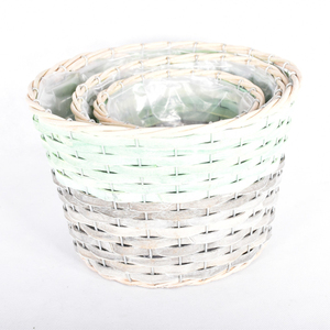 Natural wicker basket willow basket The picnic basket