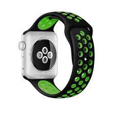 Новый мягкий цветной силиконовый спортивный ремешок для Apple Watch, 42 мм, 38 мм, S, L, 44 мм, 40 мм, ремешок iwatch, 5, 4, 3, 2, 1, браслет(Китай)