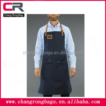 2014 High Quliaty And Heavy-duty Men Canvas Apron,Canvas Leather ...