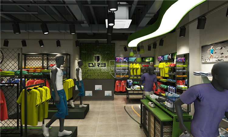 Retail Display Modern Sports Shop Decoration In Shopping
