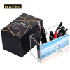 Clear Acrylic Pencil Pen Holder Box with Magnetic Photo Display