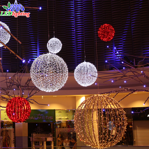 New products christmas decorations lights led hanging ball