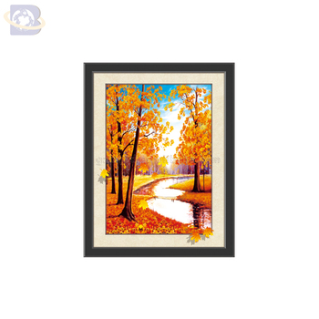 Custom PET lenticular 5D lenticular printing pictures of beautiful scenery