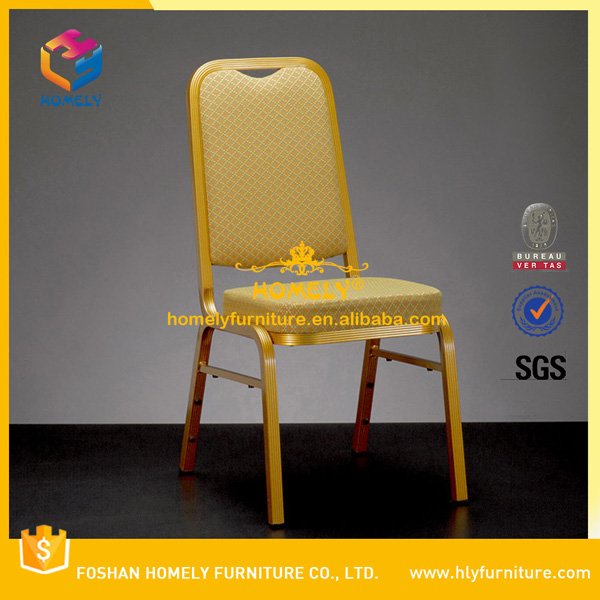 Modern Metal Stacking Outdoor Banquet Aluminum Chair