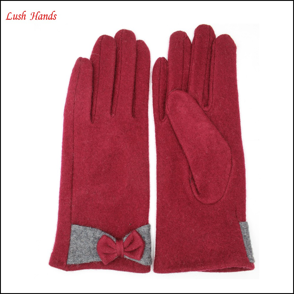 girls sexy dresses electrical gloves with bows for winter wholesale