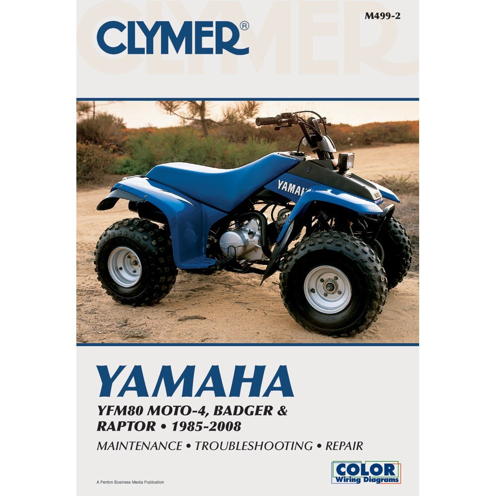 Get Quotations · Clymer Repair Manual for Yamaha ATV YFM80 Badger 85-08