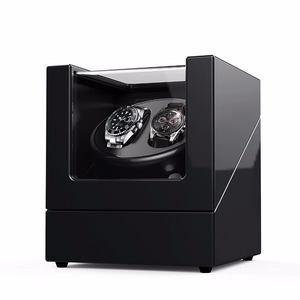 Viiways Customized Automatic China Watch Winder Box Automatic Winder in Black High Gloss MDF Material