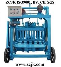 paver road block machine ZCJK QM4-45 small mobile fly ash brick making machine production line