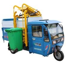 72V2500W garbage trash cleaning electric tricycle which rises plastic dustbins