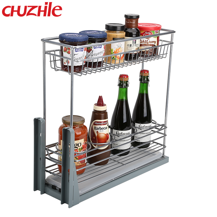 Elegant products custom wire Drawer kitchen cabinet basket