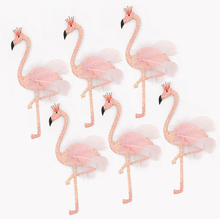 Rosa polvere Flash Piumato Flamingo elegante wedding cake topper