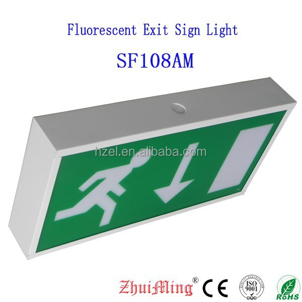 3 Hours Fluorescent Emergency Exit Sign Lighting